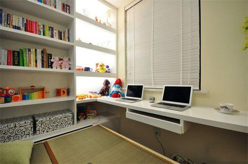现代简约二居室书房书架装修效果图大全