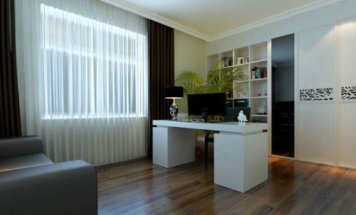 现代简约二居室书房灯具装修效果图大全
