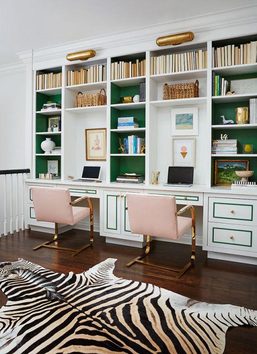 活泼感优雅现代风格书房装修实景图