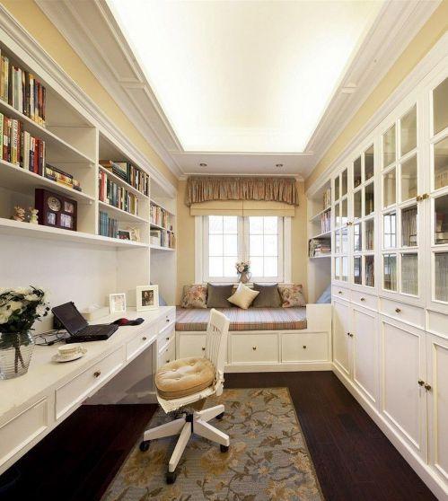 现代风格时尚书房飘窗柜设计效果图