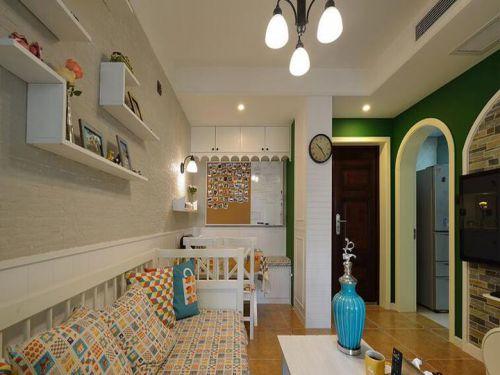 浪漫米色地中海客厅设计