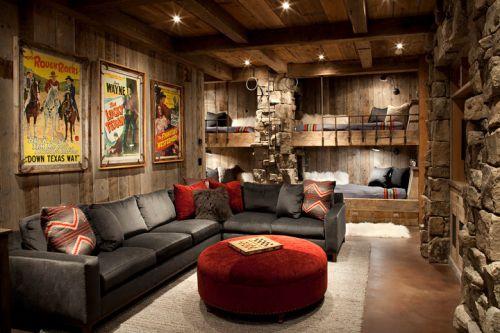原木色美式风格客厅装修图片欣赏