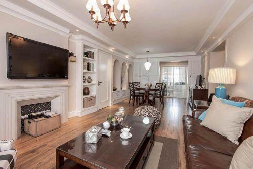 大方雅致米色美式风格客厅装修