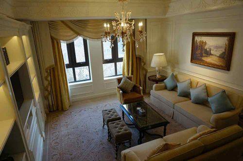 美式客厅装修全景效果图