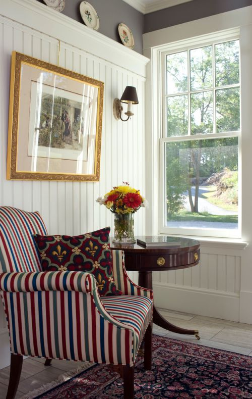 米色美式摩登个性休闲客厅装潢