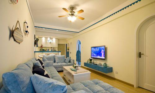 休闲地中海风格客厅装修美图