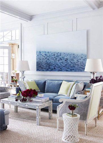 地中海风格浪漫蓝色客厅赏析