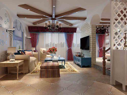 地中海唯美客厅装潢图片