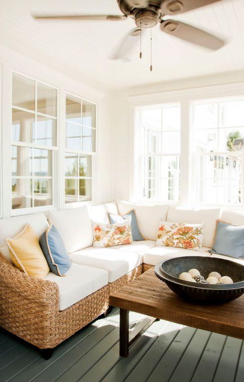 美式风格白色客厅设计
