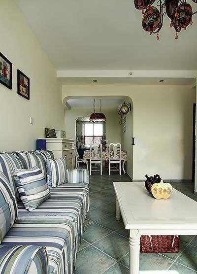 米色素雅地中海风格客厅效果图