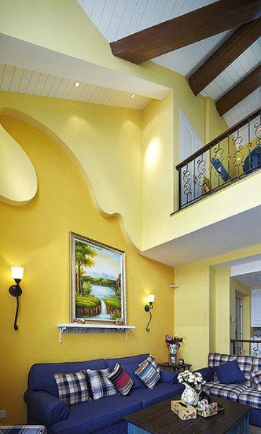 地中海浪漫雅致客厅装潢赏析