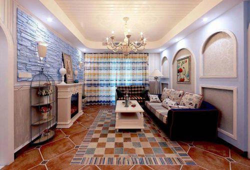 地中海风格清新客厅装修图片