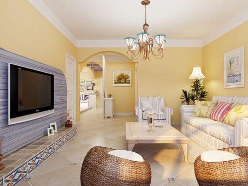 2016地中海风格客厅装修效果图