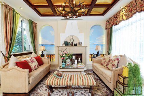 休闲时尚地中海风格客厅设计案例