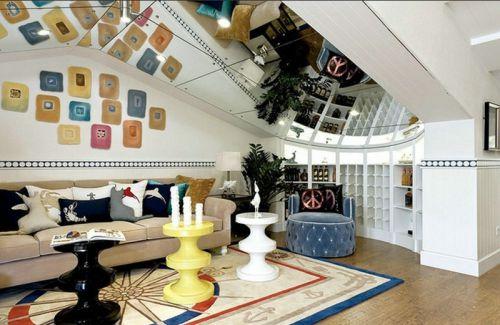 地中海风格活力米色客厅设计图片