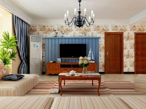 橙色地中海客厅装修效果图