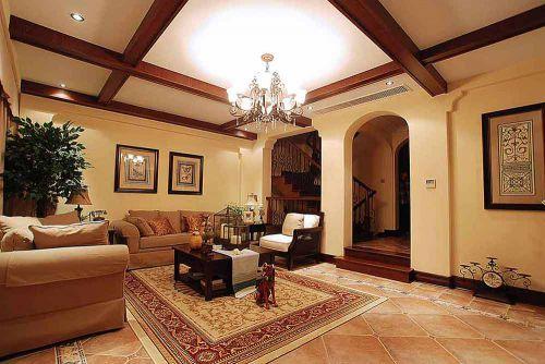简约美式温馨客厅装潢设计欣赏