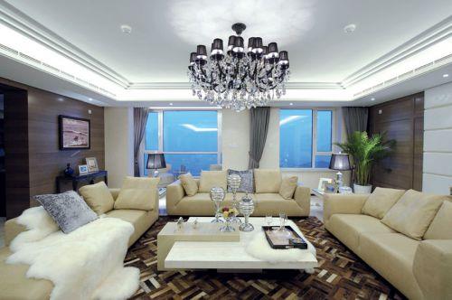 美式风格大气米色客厅装修赏析