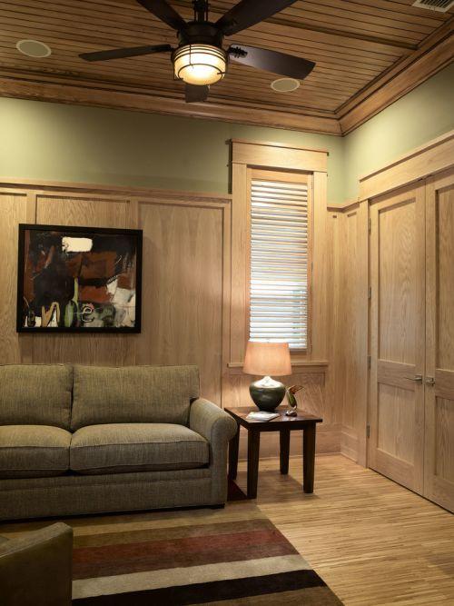 美式风格温馨黄色客厅装修设计
