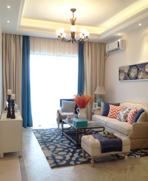 米色清新地中海客厅设计装潢