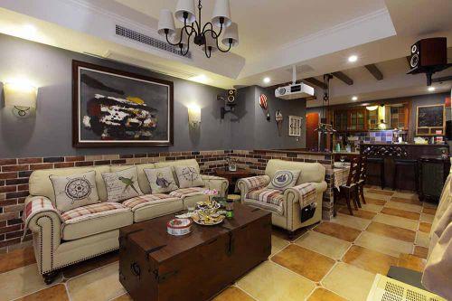 美式大气休闲客厅设计装潢