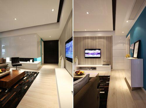 地中海米色客厅局部设计欣赏