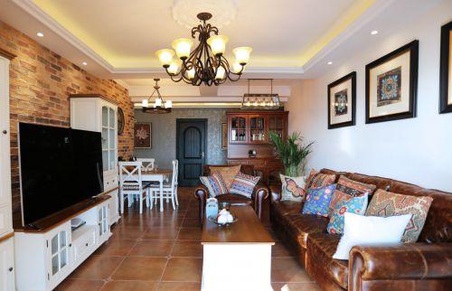 美式复古田园客厅装饰设计