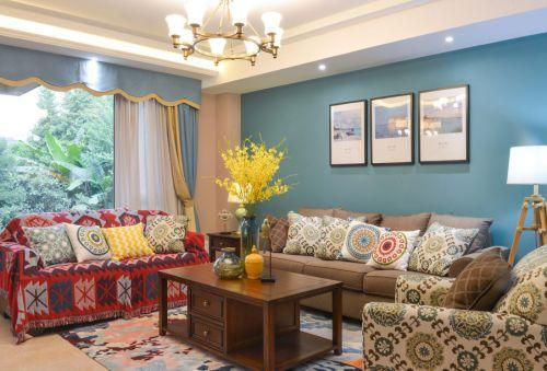 美式经典纷繁客厅装修设计