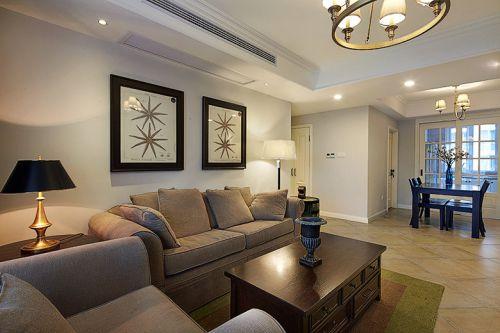 美式风格休闲客厅设计装修