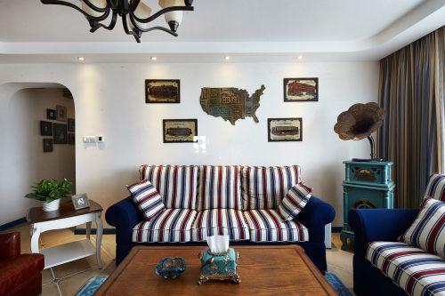 美式时尚大气雅致客厅装潢