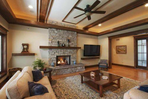 古朴美式原木风格客厅装修案例
