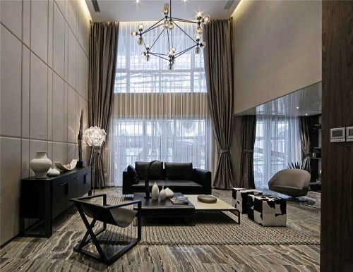 现代简约美式风格客厅装潢