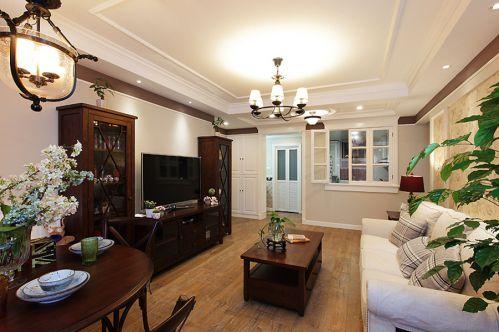 美式休闲客厅装修设计图欣赏