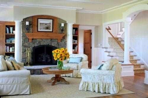 米色素雅美式风格客厅装修布置
