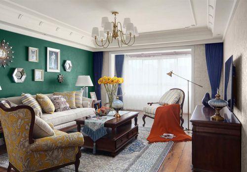 创意美式客厅照片墙设计