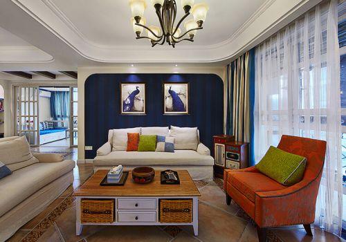 清新美式沙发背景墙设计