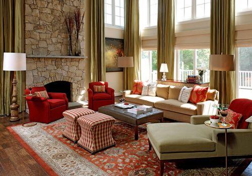 别墅美式客厅美图欣赏