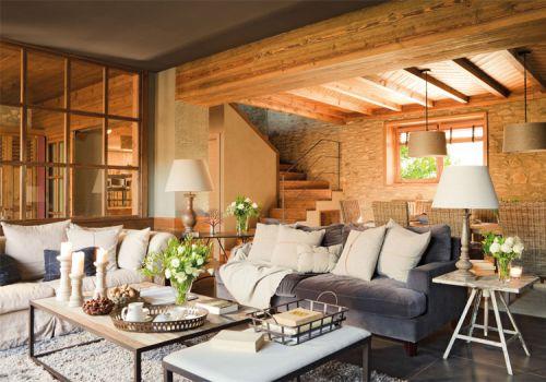 乡村美式风格客厅装修设计