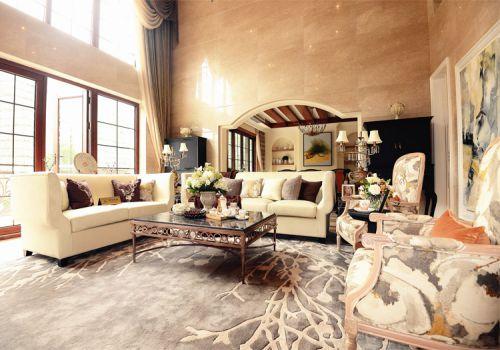 大气美式风格客厅装修设计