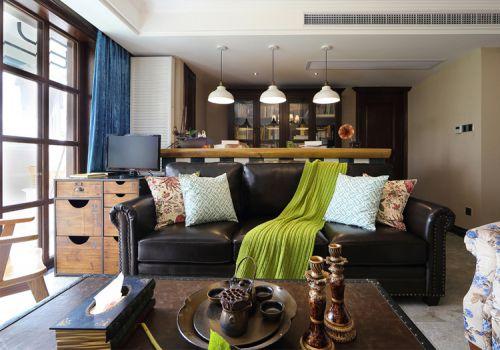 清新简约美式风格客厅装修设计