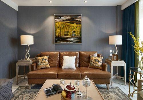 优雅简约美式风格客厅装修设计