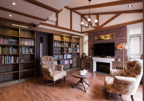 居家美式风格客厅装修设计
