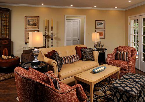 乡村美式客厅装修设计