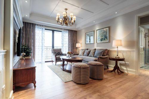 休闲美式风格客厅图片欣赏