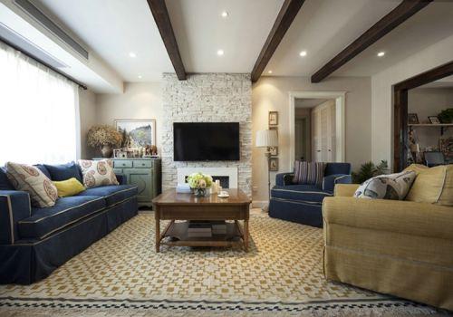 清新美式风格客厅装修图片