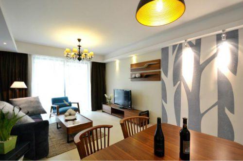 米色美式风格客厅设计案例