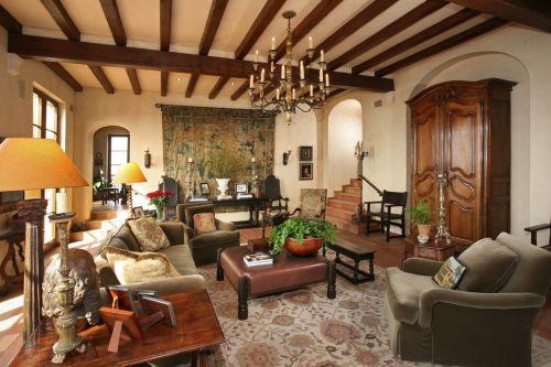 休闲美式风格客厅装饰设计图片
