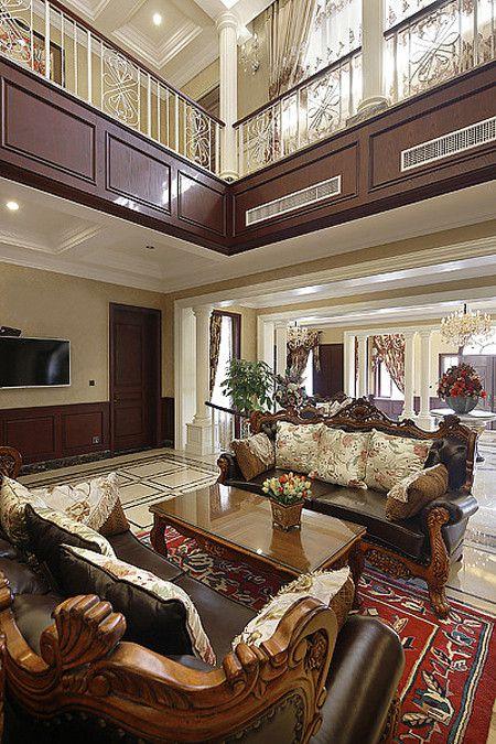 美式风格红色雅致客厅设计赏析