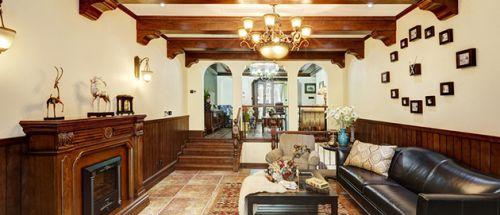 2016沉稳大气美式风格客厅设计装潢