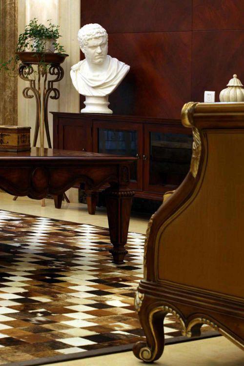 文艺复古美式沉稳风格客厅局部装修